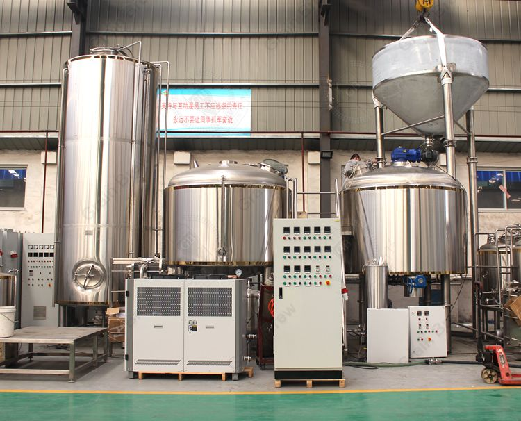 4000L Craft Beer Brewing Machinery Brewhouse