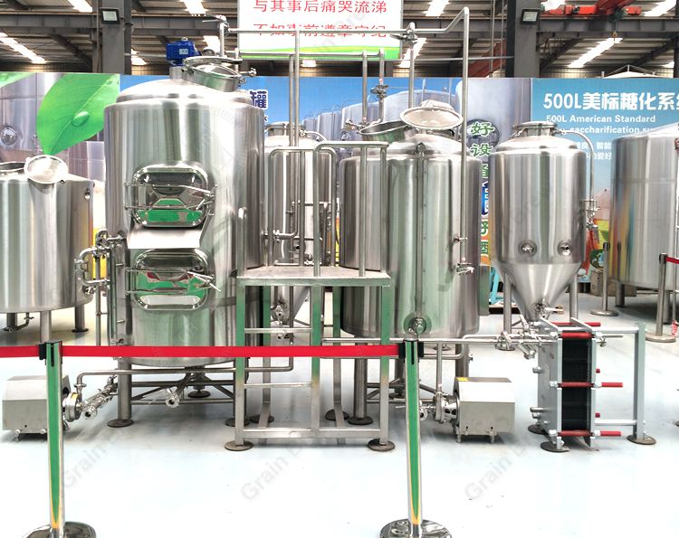 500L Micro Beer Brewing Equipment Brewhouse
